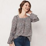 Women's LC Lauren Conrad Trapunto Peasant Top