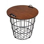 Sonoma Goods For Life® Wire Basket Side Table
