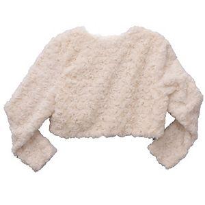 Girls 7-16 Bonnie Jean Printed Skin Faux Fur Jacket