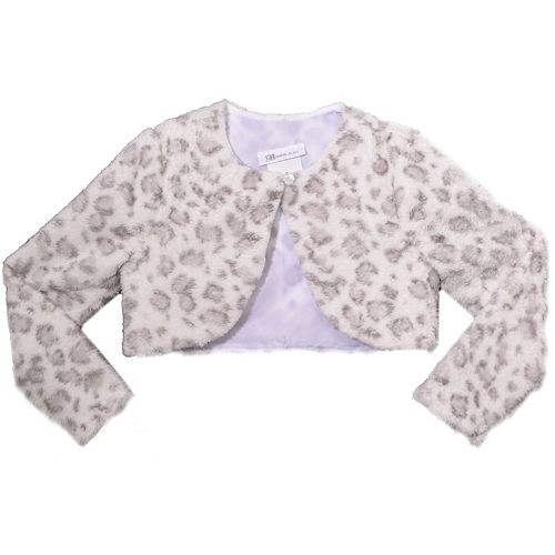 Girls 7-16 Bonnie Jean Printed Skin Faux Fur Jacket