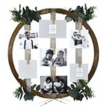 Prinz Round Ribbon Clothespin Collage Frame