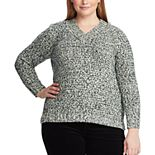Plus Size Chaps V-Neck Sweater