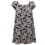 Girl's 7-16 Bonnie Jean Embroidered Mesh Float Dress