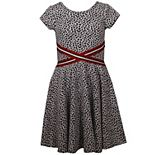 Girl's 7-16 Bonnie Jean Double Knit Skater Dress