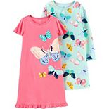 Girls 4-14 Carter's 2-Pack Various Print Nightgowns