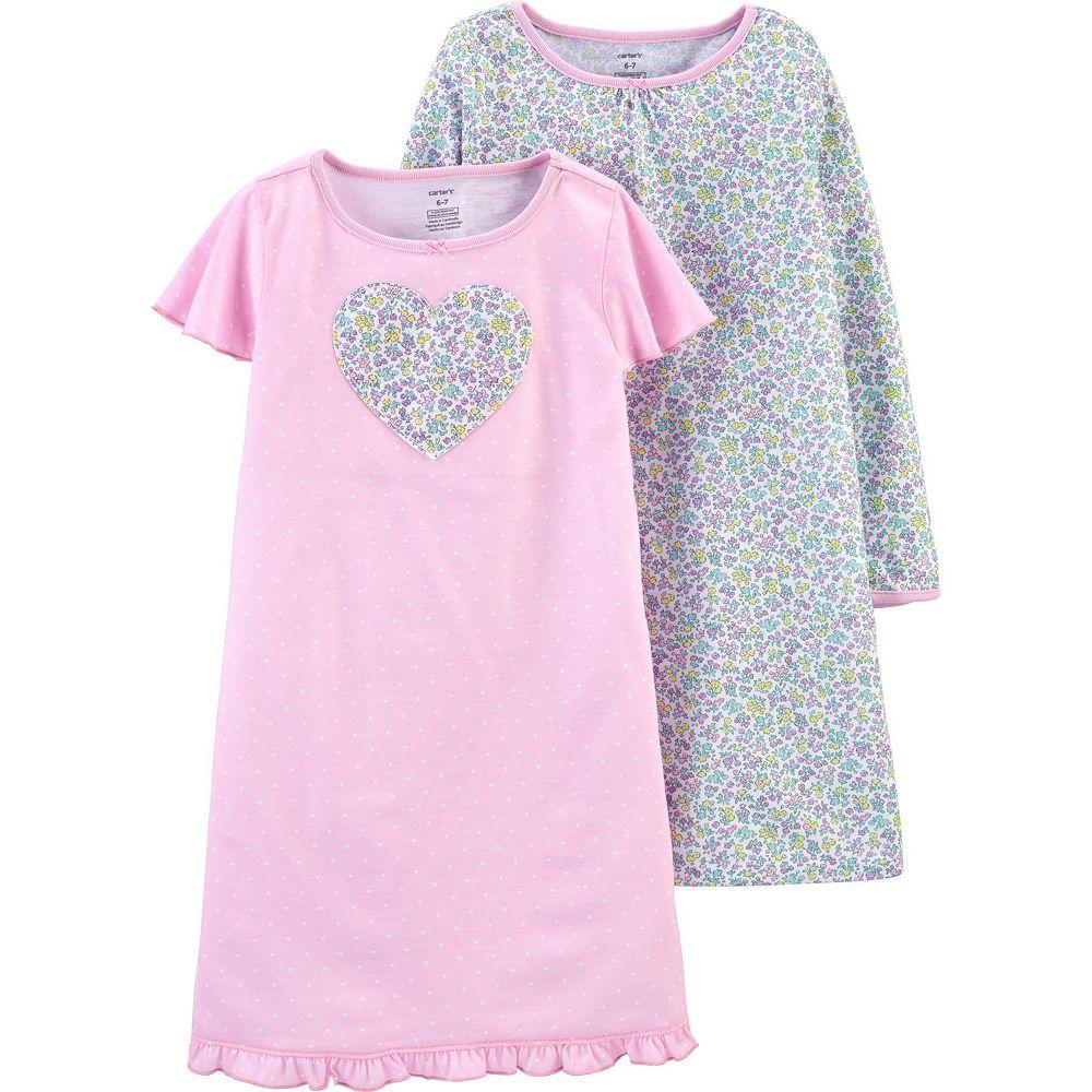 Girls 4-14 Carter's 2-Pack Various Print Nightgowns
