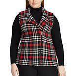 Plus Size Chaps Plaid Sleeveless Sweater