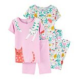 Girls 4-14 Carter's 4-Piece Spring Prints Cotton Pajamas