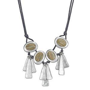 Bella Uno Jasper Triple Drop Pendant Necklace