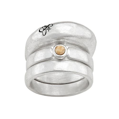 Bella Uno Jasper Bee Stacking Ring Set