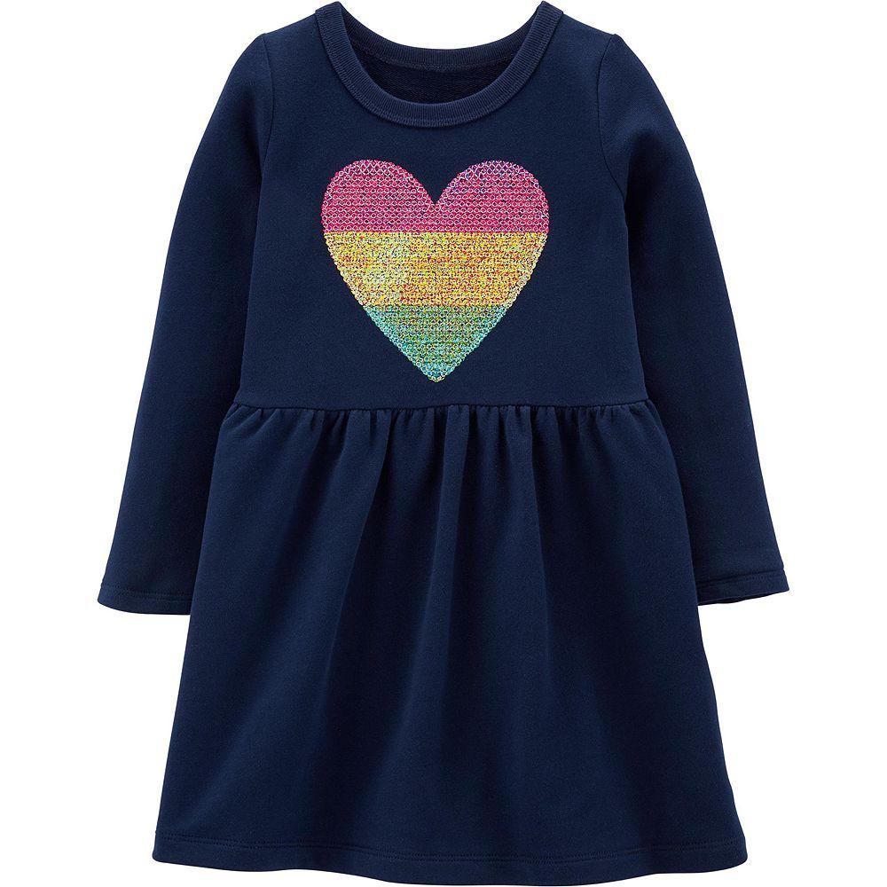 Toddler Girl Carter's Sequin Heart Dress