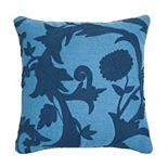 Edie@Home Floral Crewel Embroidered Throw Pillow