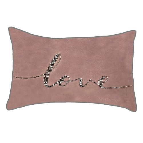 "Edie@Home Celebrations Beaded ""Love"" Throw Pillow"