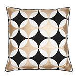 Edie@Home Kaleidoscope Applique Throw Pillow