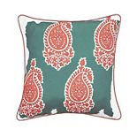 Edie@Home Jaipur Print Outdoor Throw Pillow