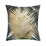 Edie@Home Outdoor Gold Leaf Throw Pillow