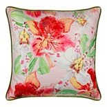 Edie@Home Lily Beaded Floral Decorative Throw Pillow