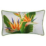 Edie@Home Bird of Paradise Embroidered Throw Pillow