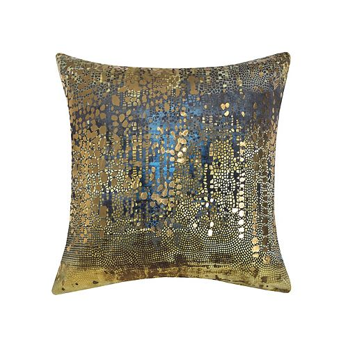 Edie@Home Precious Metals Collection Velvet & Gold Metallic Throw Pillow by Ediehome