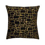Edie@Home Precious Metals Collection Printed Faux Fur Throw Pillow