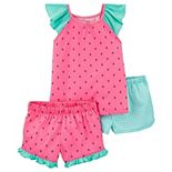 Girls 4-14 Carter's Watermelon Top and Shorts Pajama Set