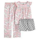 Girls 4-14 Carter's Bunny 3-Piece Pajama Set