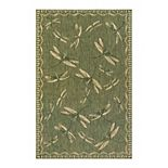 Liora Manne Carmel Dragonfly Indoor Outdoor Rug