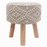 Decor Therapy Nirobi Crochet Stool