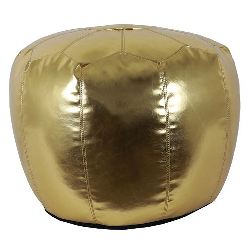 Decor Therapy Preena Faux-Leather Pouf