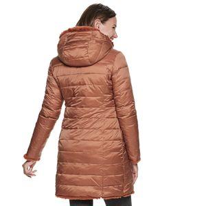 Women's Be Boundless Sphere Faux-Fur Hood Reversible Coat