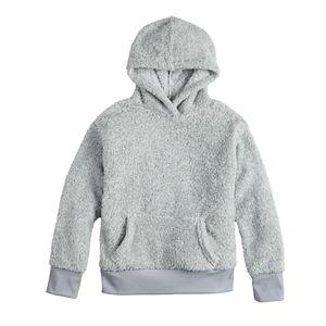 Girls 7-16 SO Pullover Sherpa Hoodie