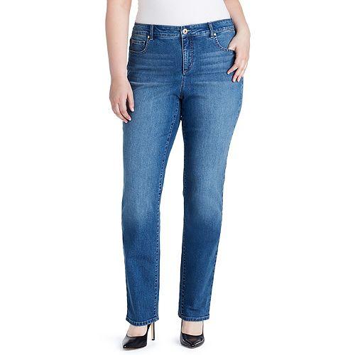 Plus Size Bandolino Mandie Classic Straight-Leg Jeans