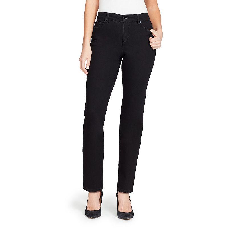 Petite Bandolino Mandie Classic Straight-Leg Jeans, Women's, Size: 4P-Short, Black