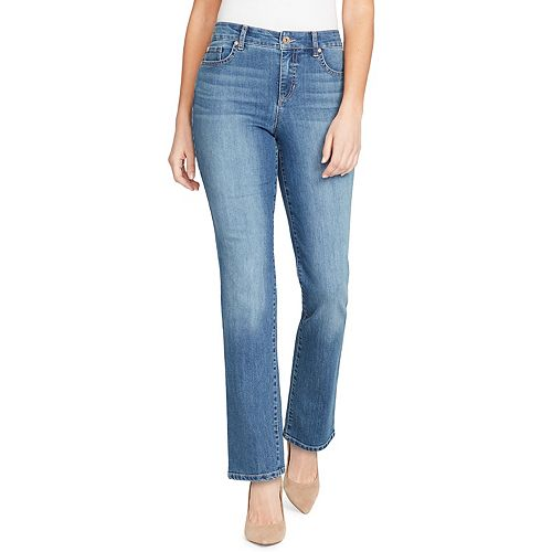 Petite Bandolino Mandie Classic Straight-Leg Jeans