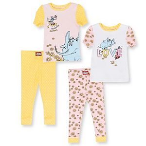 Baby Girl 4-Piece Horton Hears A Who Pajama Set