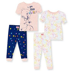 Baby Girl 4-Piece Tweety Bird Pajama Set