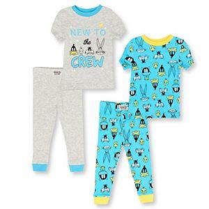 Baby Boy 4-Piece Looney Tunes Pajama Set