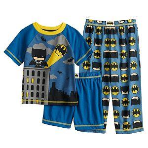 Toddler Boy DC Comics Batman 3 Piece Pajama Set