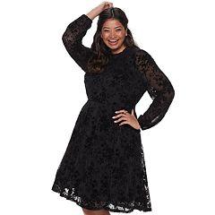 Juniors Plus Long Sleeve Dresses, Clothing | Kohl\'s