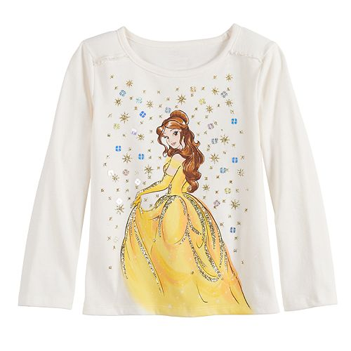 Disney's Beauty and the Beast Belle Toddler Girl Ruffled Top by Jumping Beans®