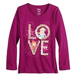 "Disney's Frozen 2 Girls 4-12 ""LOVE"" High-Low Hem Top by Jumping Beans®"