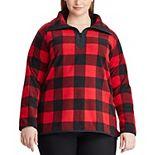 Plus Size Chaps Plaid Knit Pullover