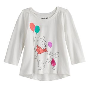 Disney's Winnie The Pooh Baby Girl Long Sleeve Shirred Tee by Jumping Beans