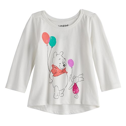 Disney's Winnie The Pooh Baby Girl Long Sleeve Shirred Tee by Jumping Beans®