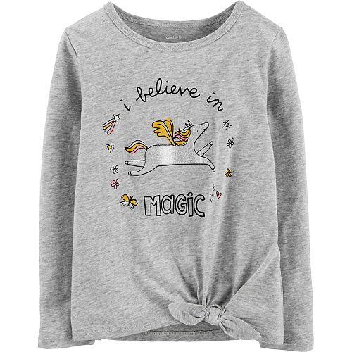 Toddler Girl Carter's Unicorn Tie-Front Jersey Tee