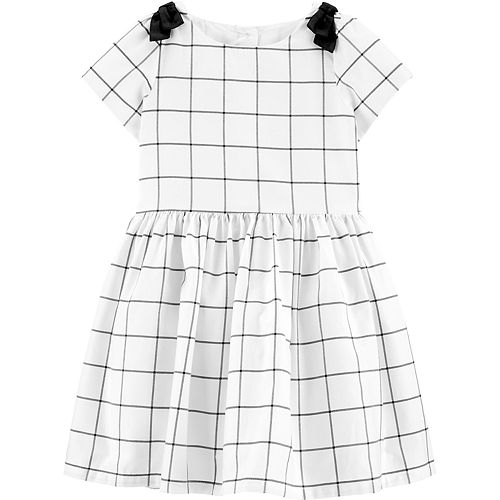 Toddler Girl Carter's Checkered Satin Holiday Dress
