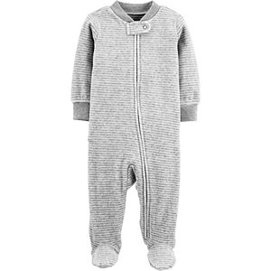 Baby Carter's Striped Zip-Up Velour Sleep & Play