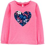 Toddler Girl Carter's Neon Floral Heart Top