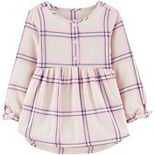 Toddler Girl OshKosh B'gosh® Metallic Plaid Flannel Top