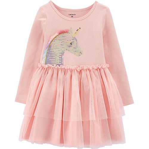 Toddler Girl Carter's Sequin Unicorn Tutu Dress